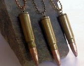 Bullet Necklace Vintage Bullet Casing Jewelry Unisex Bullet Necklace with Ball Chain gifts under 25