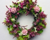 Sweet Miniature Wreath with Soft Pink Roses
