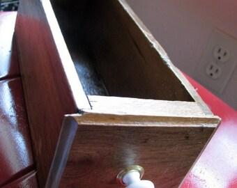 Vintage Wooden Sewing Machine Drawer