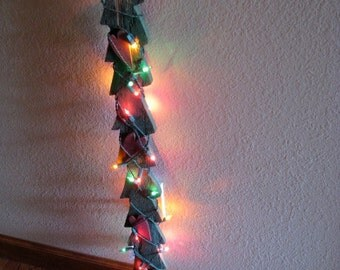 Vintage Christmas Tree - Skinny, Wooden, Rustic, Lighted