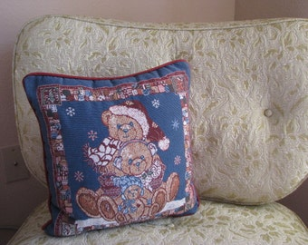 Vintage Bear Tapestry Pillow