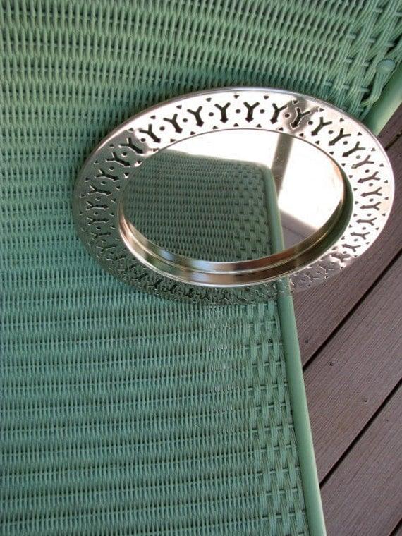 Vintage Round Silver Tray