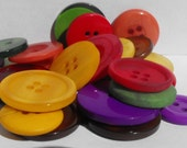 25 Autumn Large Buttons Round Multi Sizes