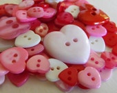100 Love Heart Buttons