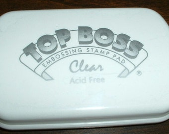 Top Boss Embossing Clear Stamp Pad