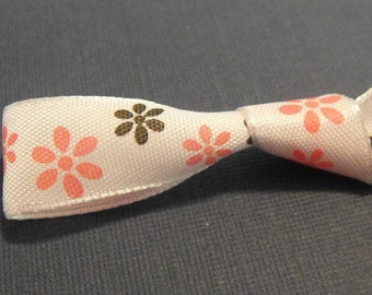Pink and Black Flower Ribbon 5 Yards