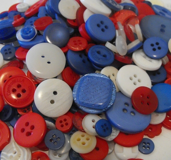 100 All American Buttons Round Multi Sizes