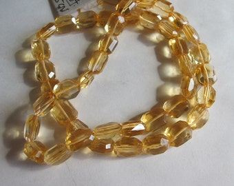 Citrine Faceted Square Nuggets- 10x8mm