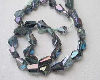 Mystic Topaz Faceted Nuggets-11x8mm