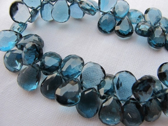 London Blue Topaz Faceted Tear Drops- 10x8mm