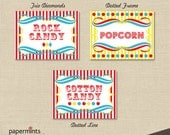 PRINTABLE Personalized Food Label in Vintage Circus theme