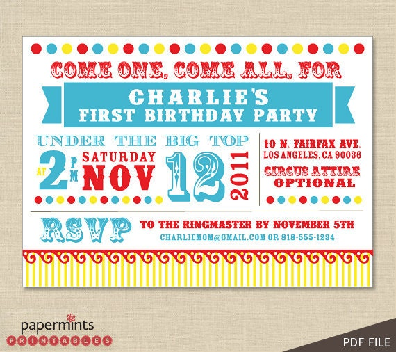 The Perfect Carnival Invitations Crafthubs – Carnival Themed Party Invitations