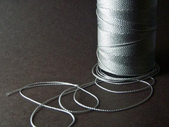 30 Feet .5mm gray cotton beading thread