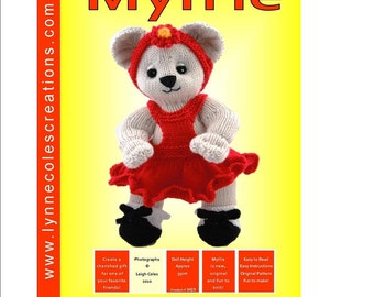 Myllie Bear -  Unique and Original Toy Knitting Pattern - PDF format