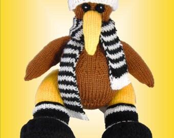 Kika the Kiwi - a Unique and Original Toy Knitting Pattern - PDF format