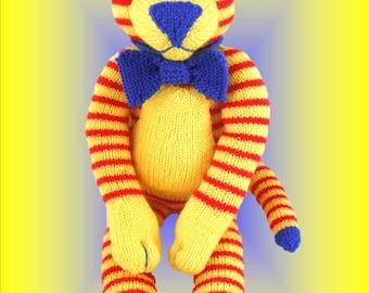 Knitting pattern tiger