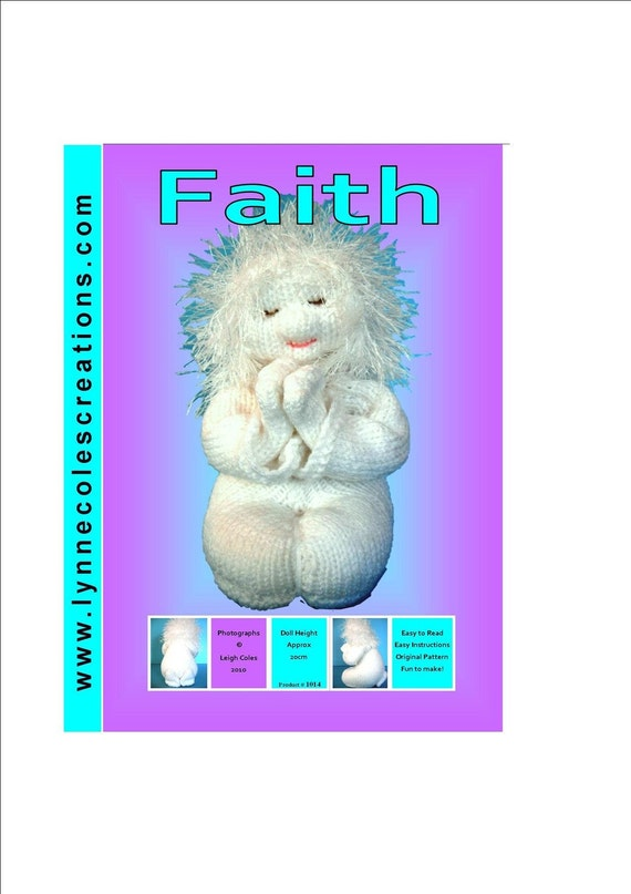 Faith - a unique toy knitting pattern - PDF format