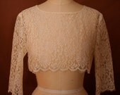 Chantilly Lace Cropped Topper