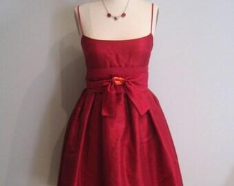 Raspberry Shantung Party Dress