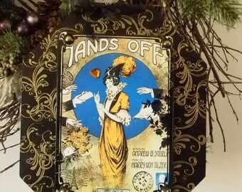 Hands Off Decorative Plaque