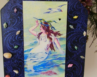 Mermaid Lady of the Sea Decorative Plaque