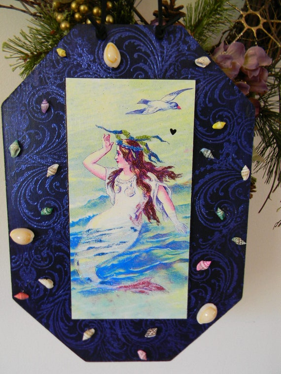Mermaid Lady of the Sea Decorative Plaque