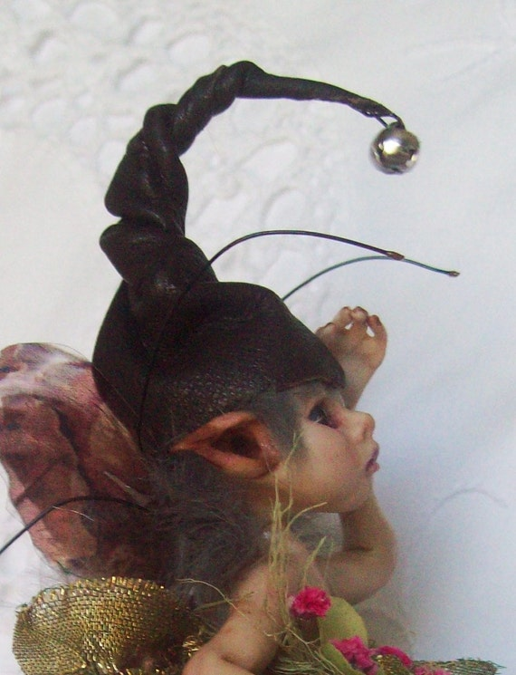 OOAK Hand-Made Polymer Woodland Fairy