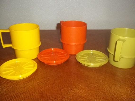 Vintage Tupperware Cups and Coasters