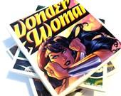 Wonder Woman Ceramic Comic Book Coasters