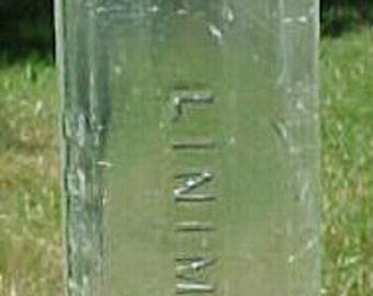 c1880s Minard's Liniment Boston, Mass. , Cork Top Blown Glass Medicine Bottle No. 2