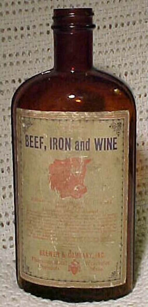 C1920s Beef Iron And Wine Brewer Company Worcester Mass