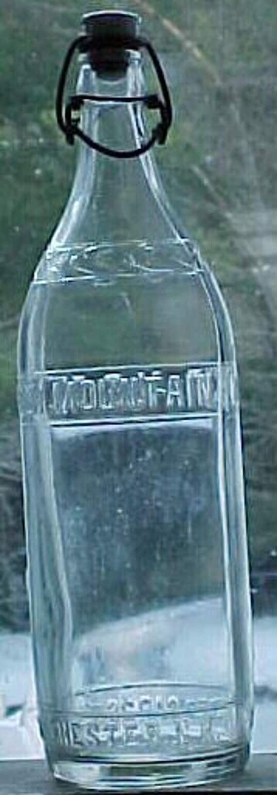 1930s Green Mountain Ginger Ale Co. Manchester, N.H. , Clear 28 Ounce Soda Bottle