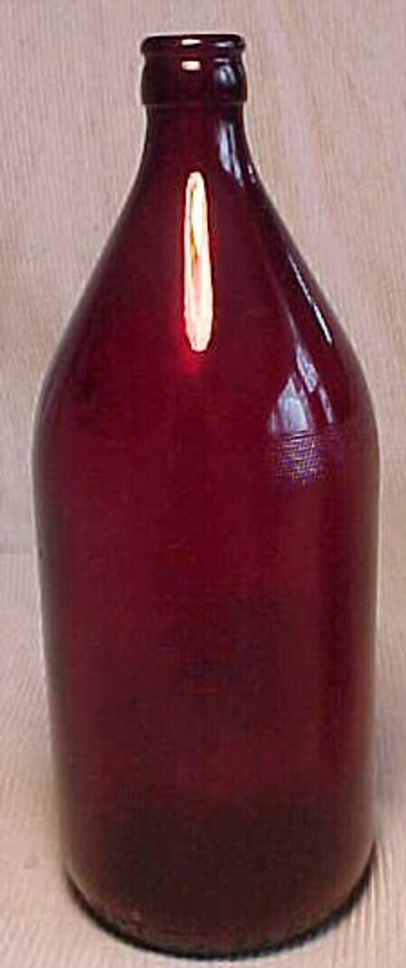 1950 Royal Ruby One Quart Ruby Red Beer Bottle Used By