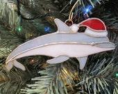 Santa Dolphin Ornament