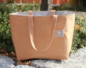SOFT GRIP, The City, Kraft and Linen Tote Bag, C100