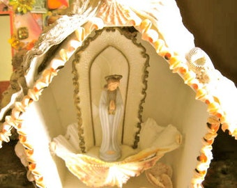 Take 20% Off LOVELY MARY of the SEA Shell Shrine