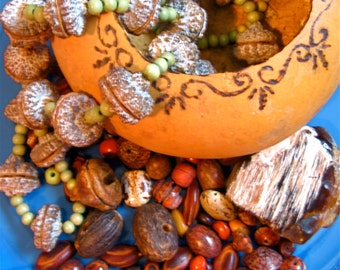 Take 20% Off Gourd Bowl & Primitive Seed Wood Necklaces PLUS Loose Seeds