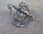 Vintage Ornate Solid Brass Drawer Pull