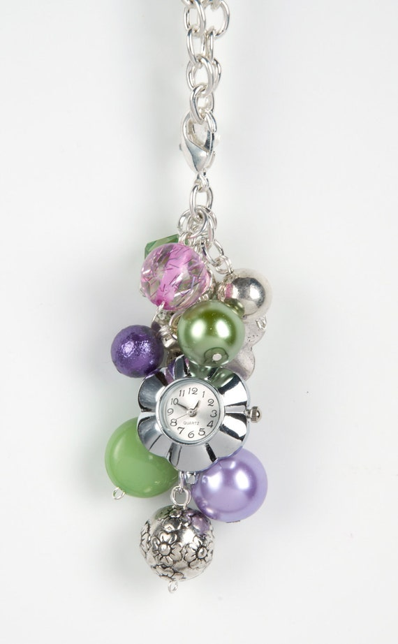 Bag Bling - Summer Lilac - Purse Jewelry Watch Face Included
