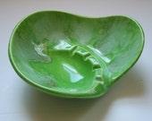 Vintage Haeger green ceramic ashtray