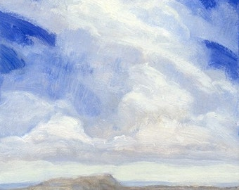 "Windswept tall cloud over the Montana prairie is the subject of oil painting ""Sailing"""