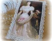 Victoian Style Keepsake Box Hand Embellished, SALE, Black Friday Etsy