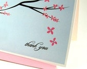 Thank you cards embellished with Swarovski crystals - also great as wedding thank you cards
