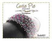 Beading Pattern Right Angle Weave Bead Textured Narrow or Wide Cuff  Tutorial CUTIE PIE