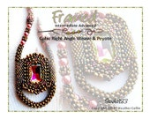 Beading Pattern Cubic Right Angle Weave Rope and Bezeled Rectangular Frame Necklace Tutorial FRAMED