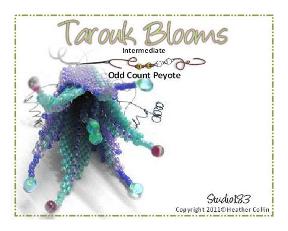 Beading Pattern Beaded Flowers Beading Tutorial TAROUK BLOOMS