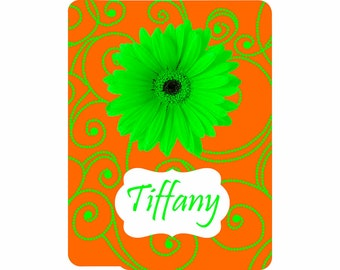 SALE 30% OFF! iPad 2, 3, or 4 Hard Snap on case cover Personalized Custom Gerber Daisy