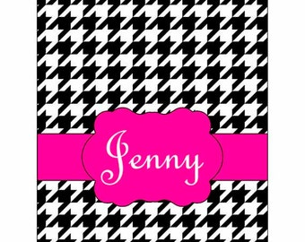 SALE 30% OFF! iPad 2, 3, or 4 Hard Snap on case cover Personalized Houndstooth