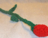 Crochet Long Stem Rose