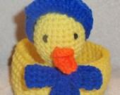Crochet Duck Easter Basket